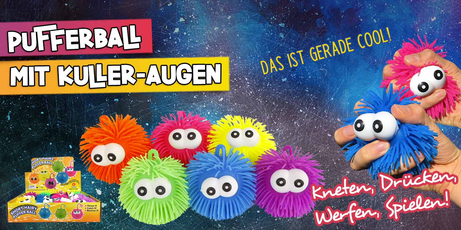 Pufferball mit Augen